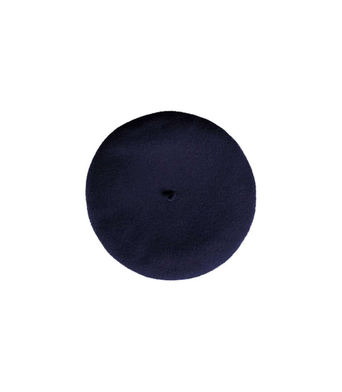 béret cachemire bleu marine