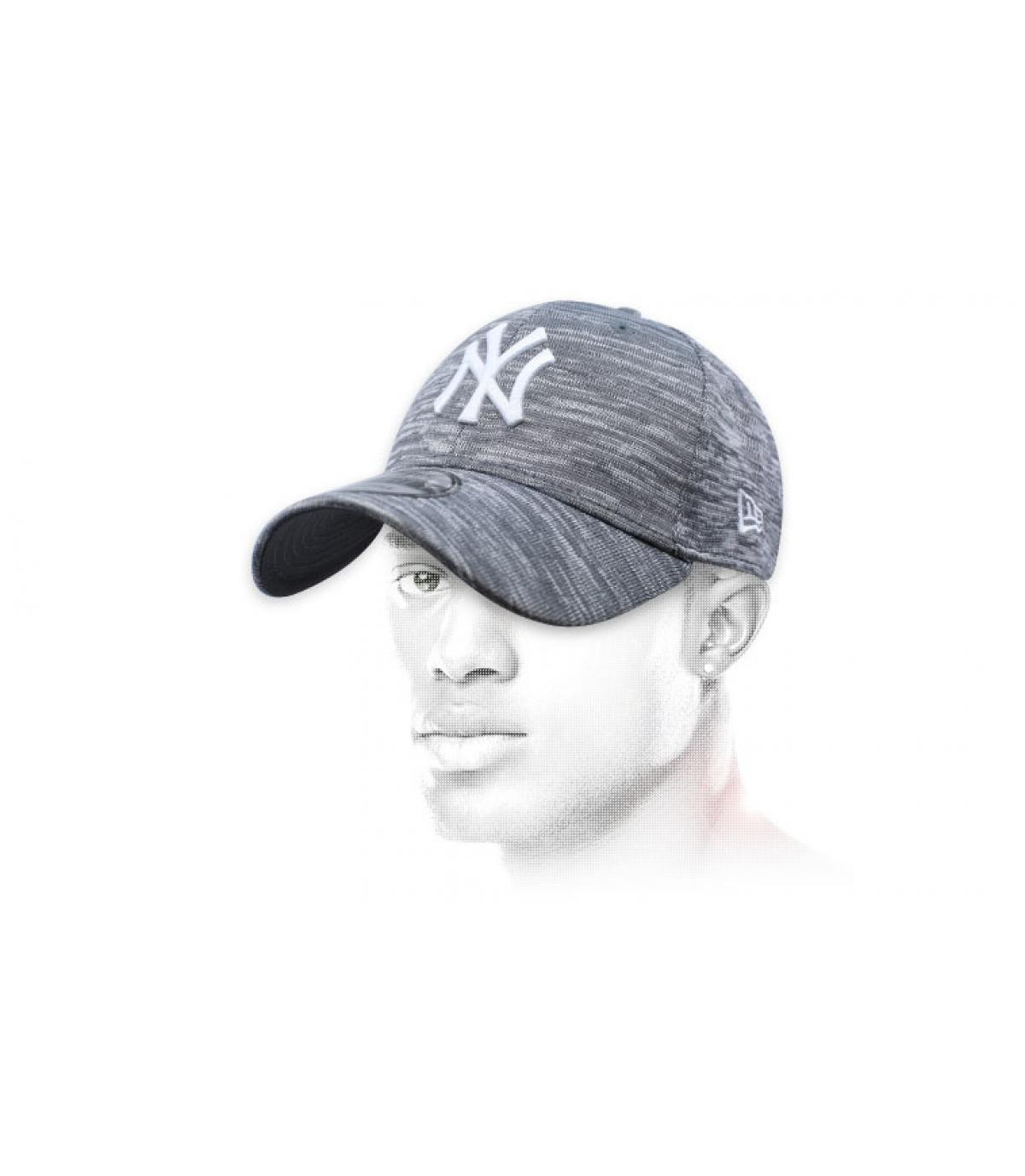 casquette NY gris chiné Engineered