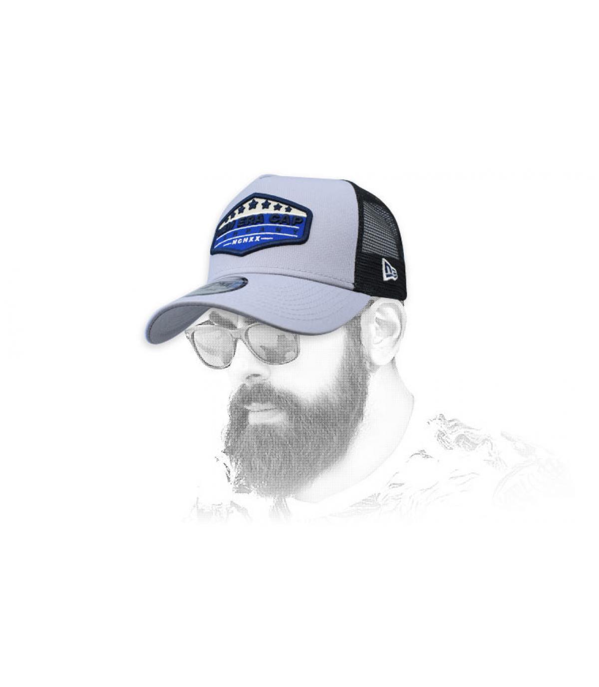 trucker New Era patch gris bleu
