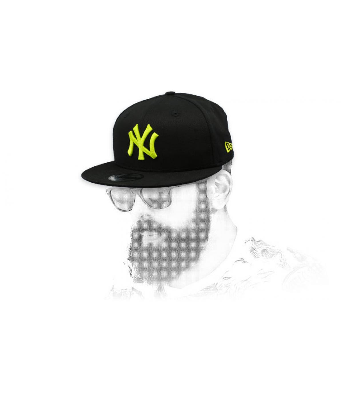 snapback NY noir jaune