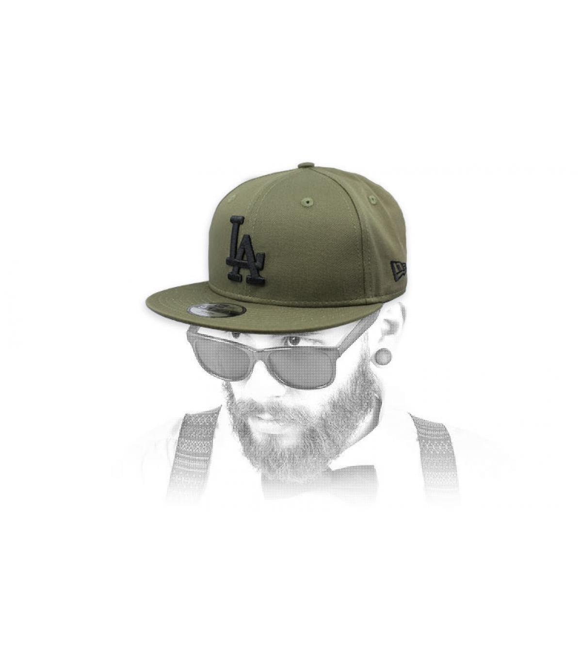 snapback LA vert noir