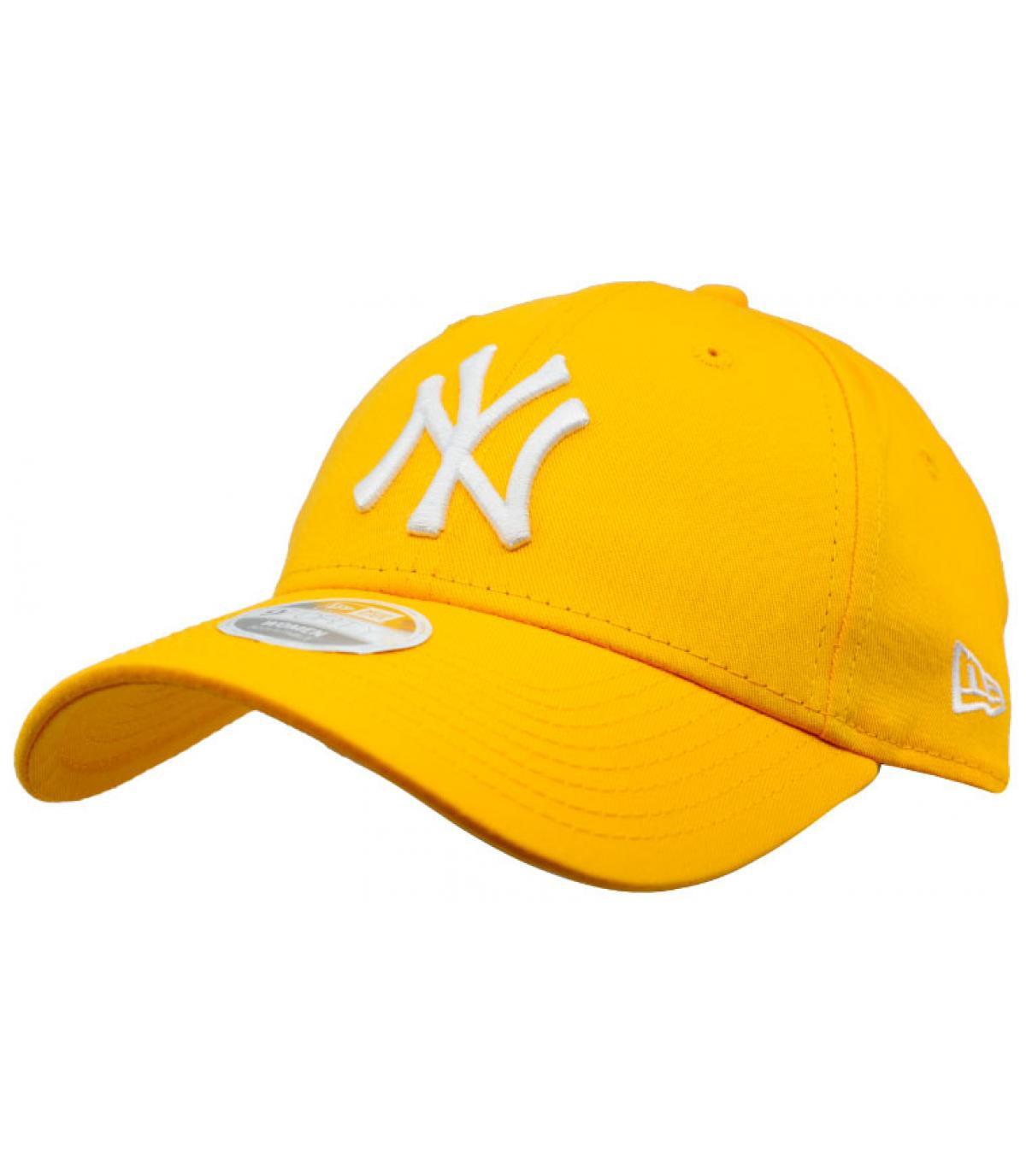 casquette NY femme jaune