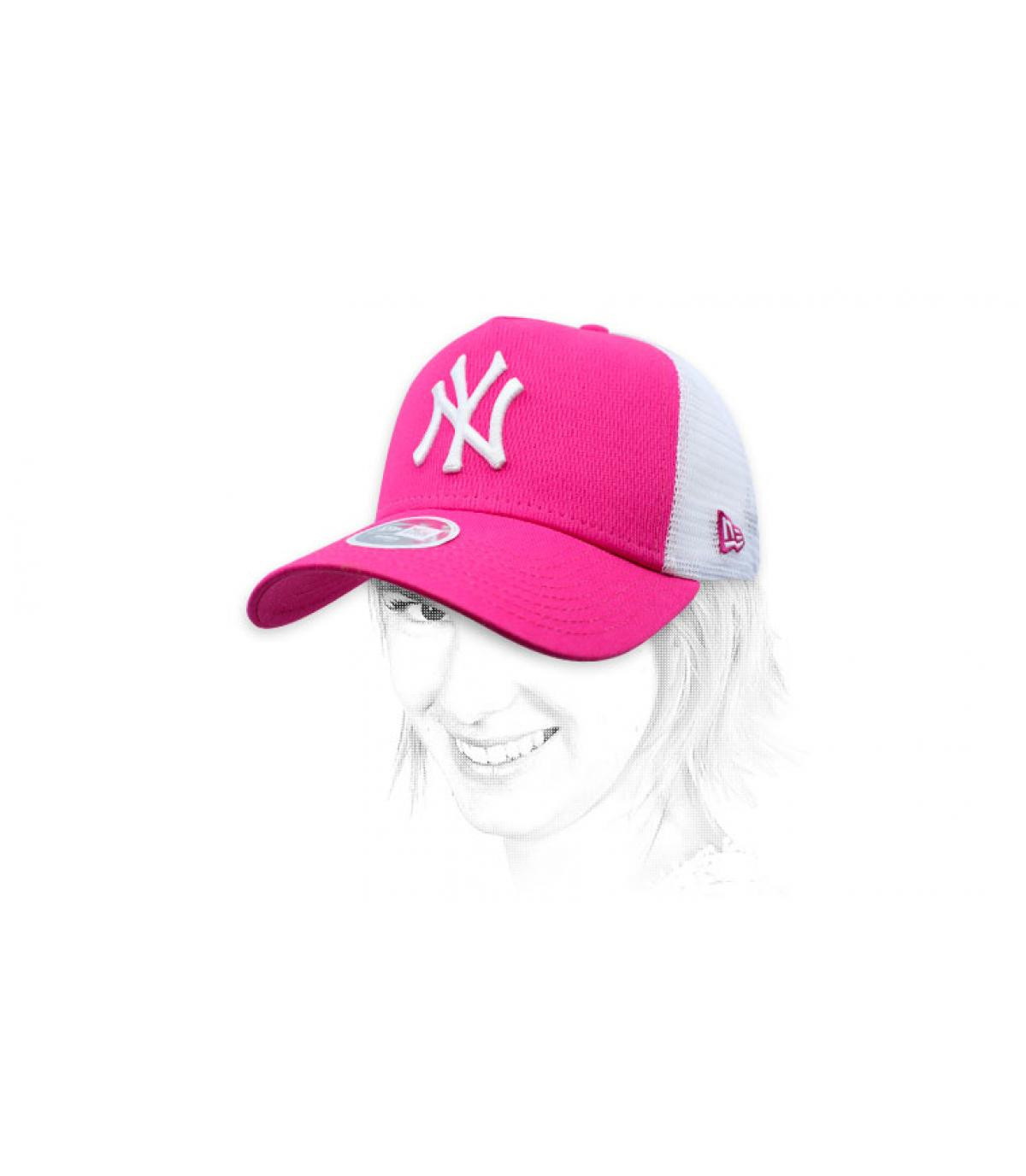 trucker NY femme rose