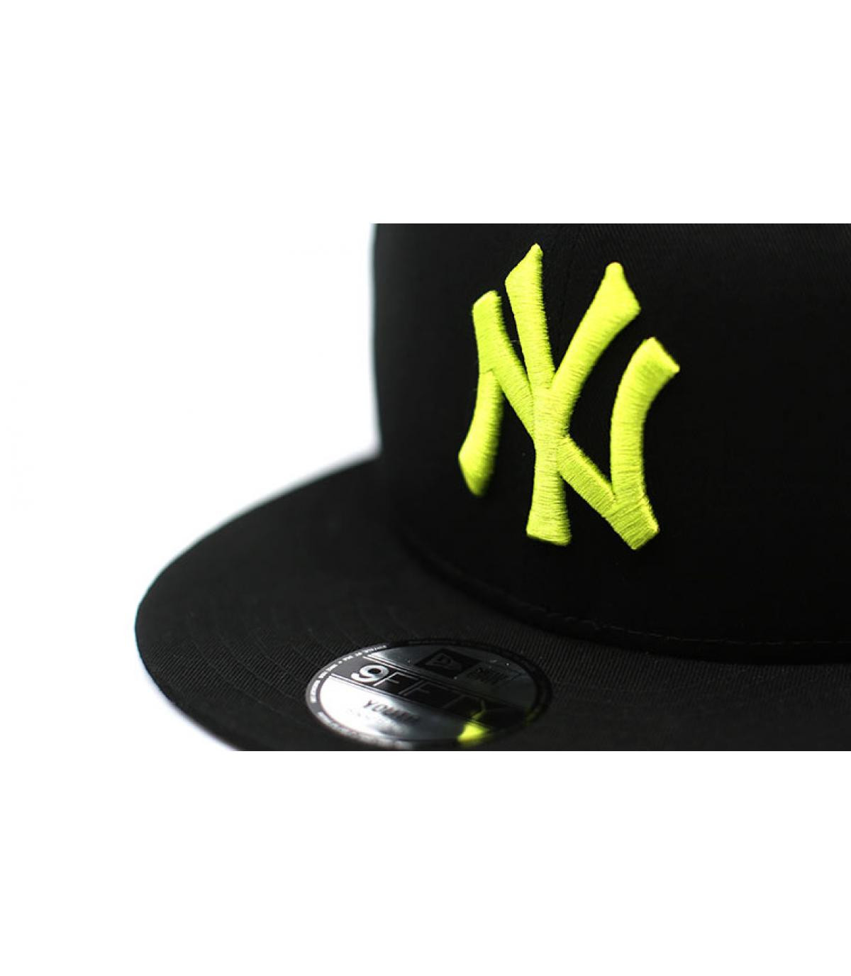 Détails Snapback Kids League Ess NY 9Fifty black cyber yellow - image 3