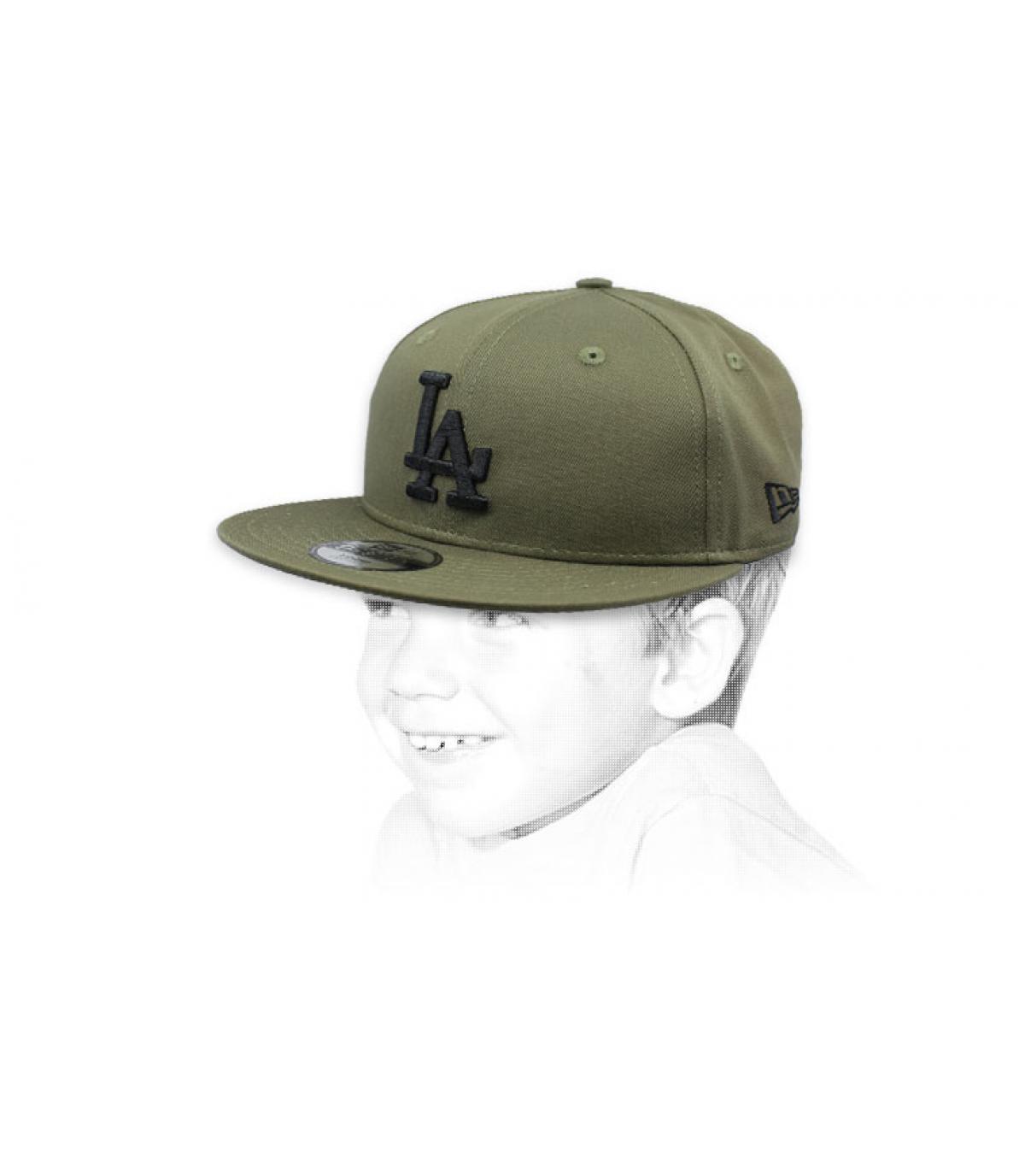 casquette enfant LA vert noir