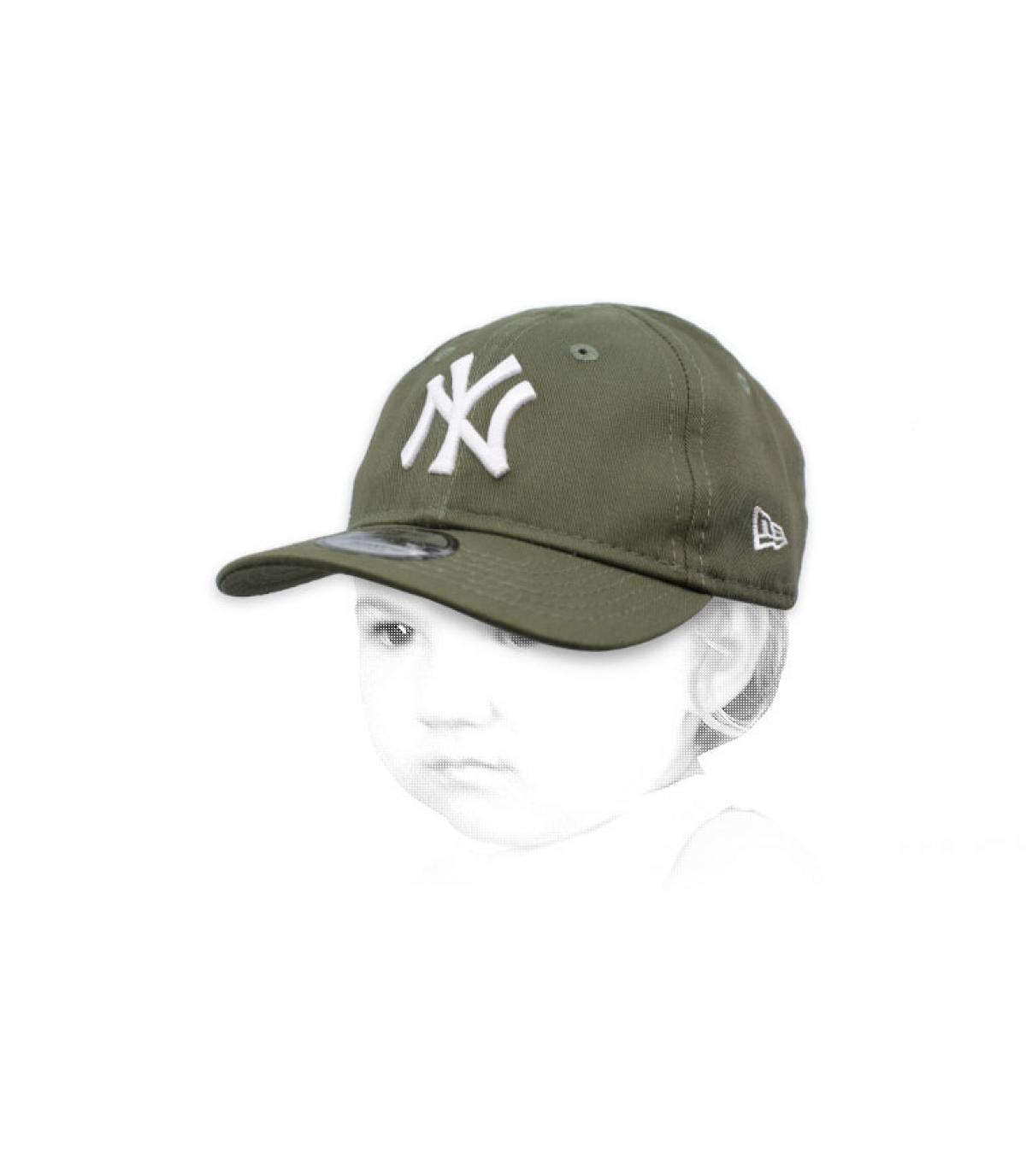casquette NY bébé vert