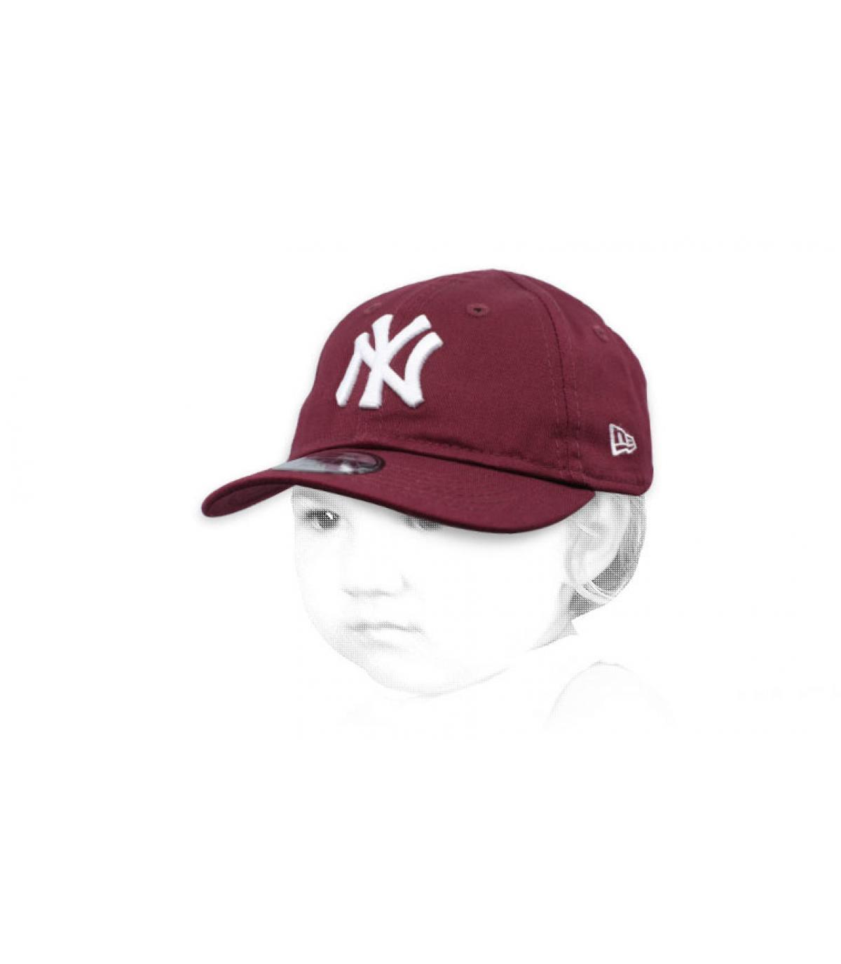 casquette NY bébé violet