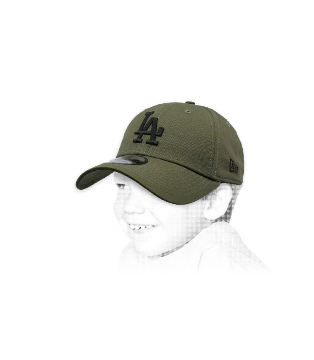 casquette LA enfant vert