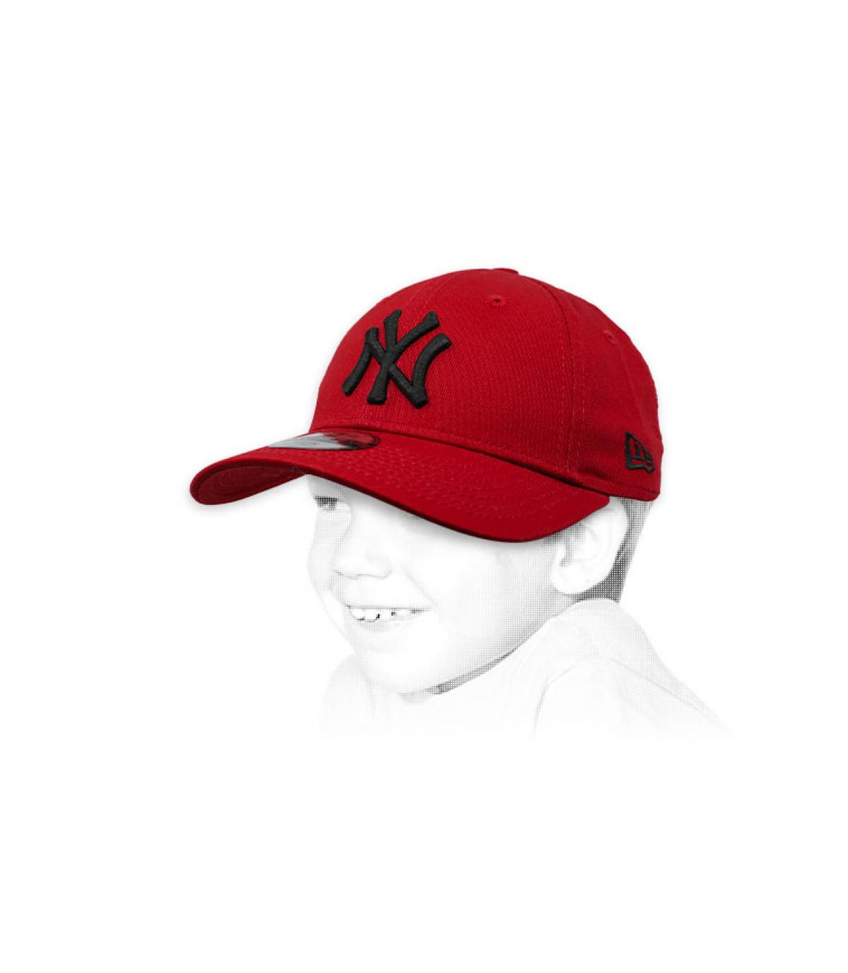casquette NY enfant bordeaux