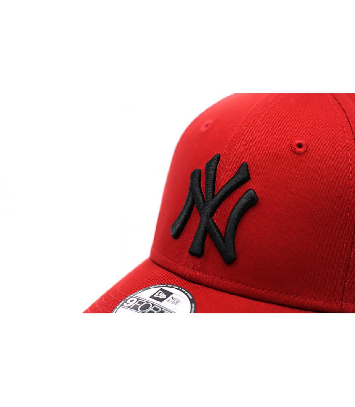 Détails Casquette Kids League Ess NY 9Forty hot red black - image 3