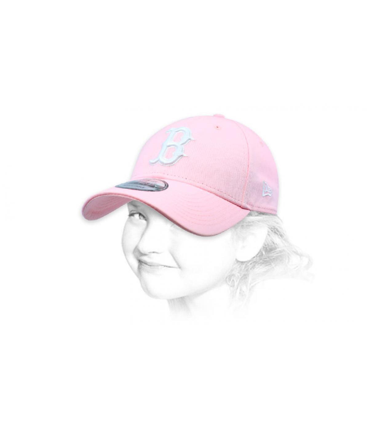 casquette B enfant rose