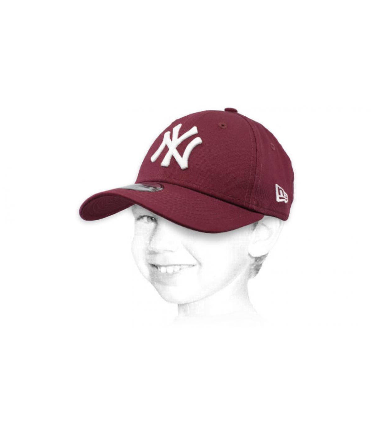casquette NY enfant violet