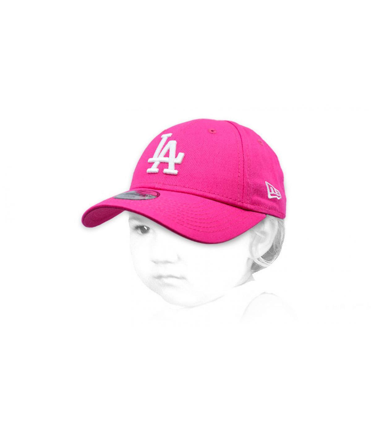 casquette bébé LA rose
