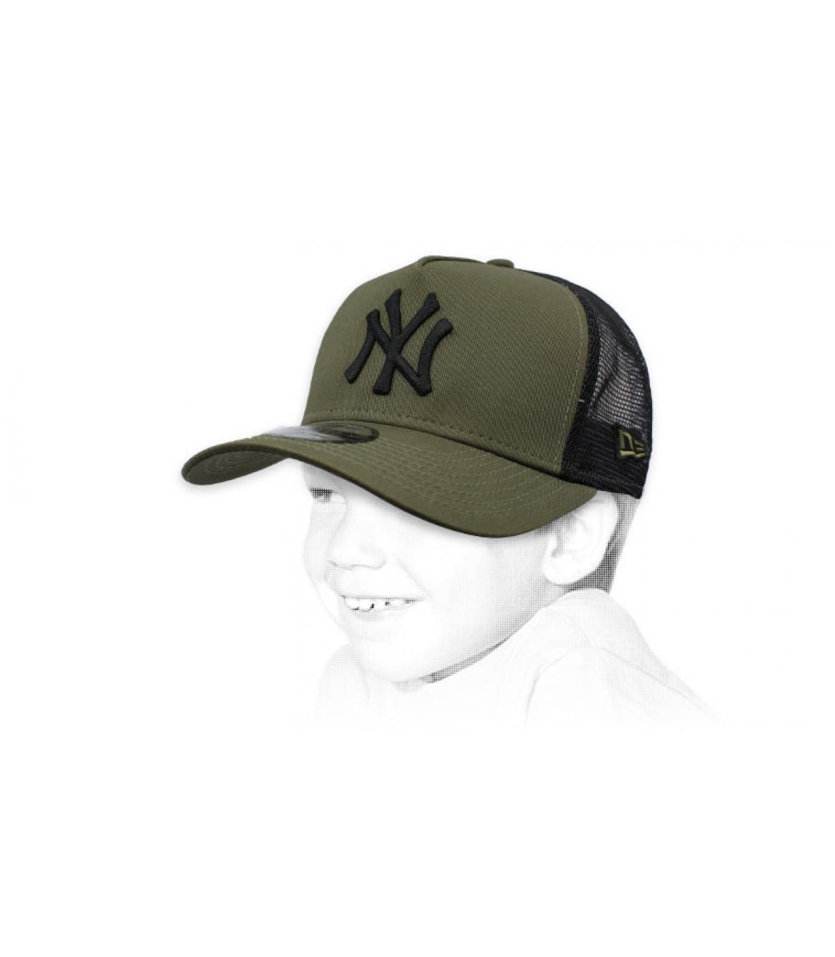 trucker enfant NY vert