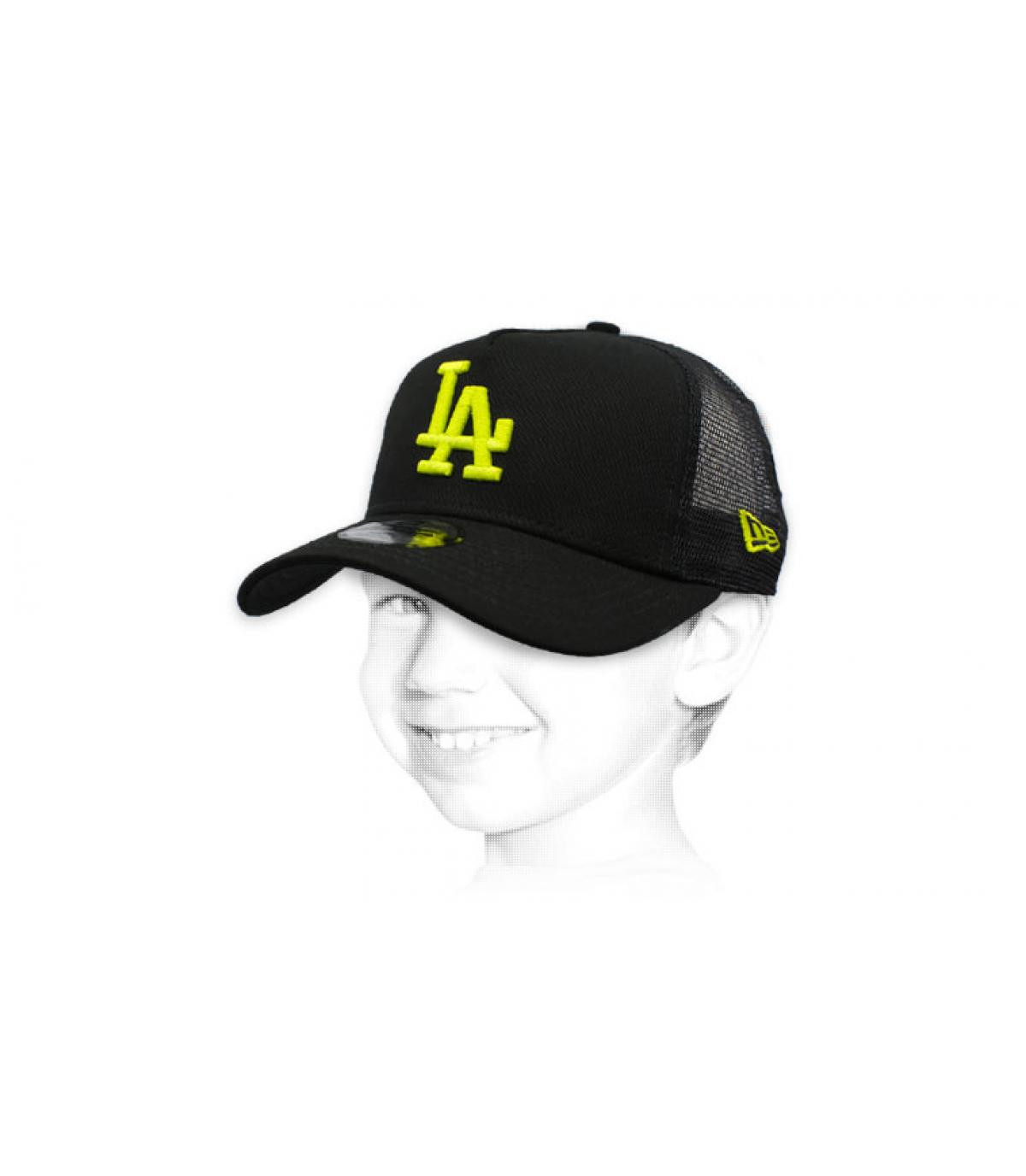 trucker LA enfant noir jaune