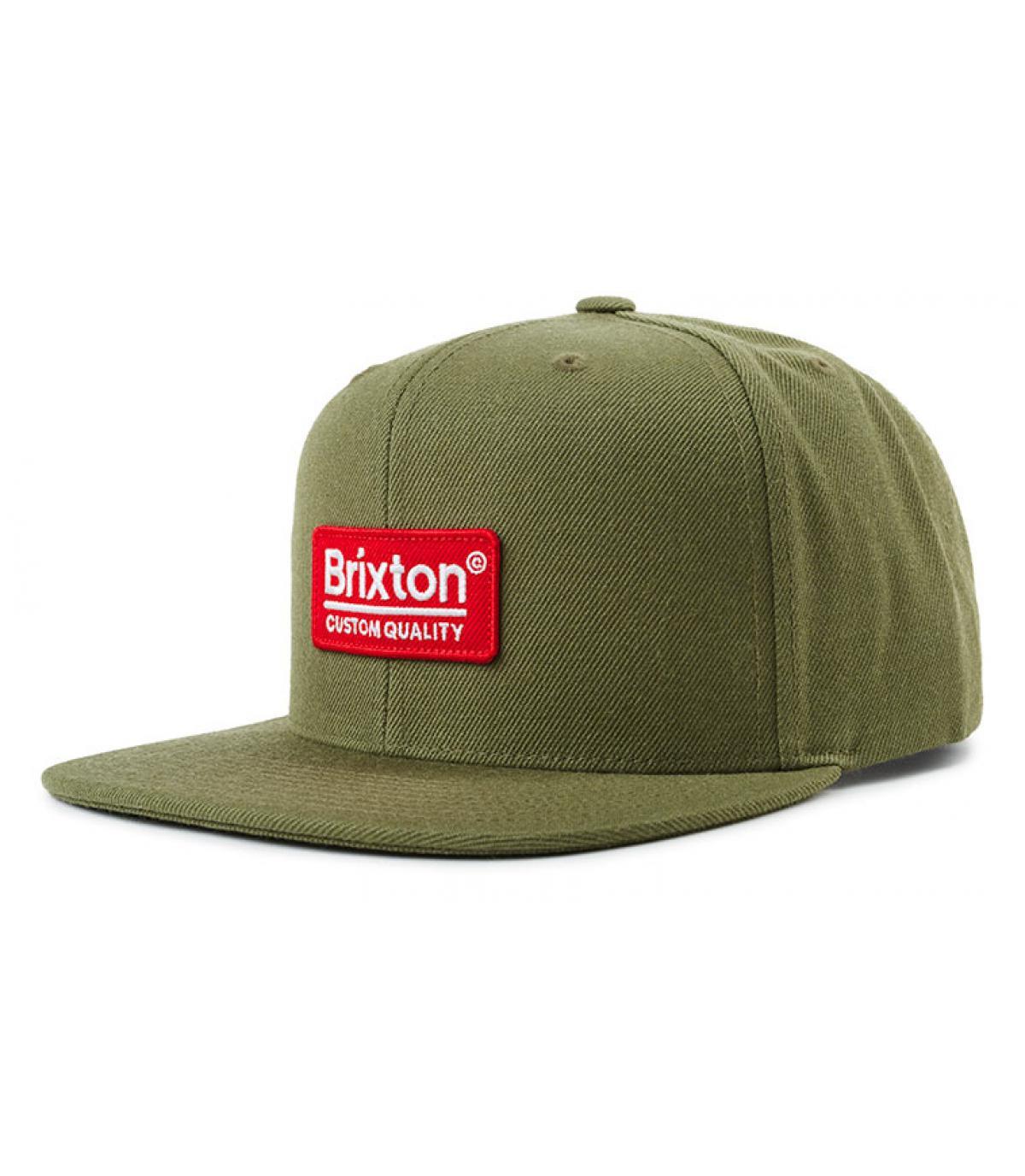 snapback vert olive Brixton