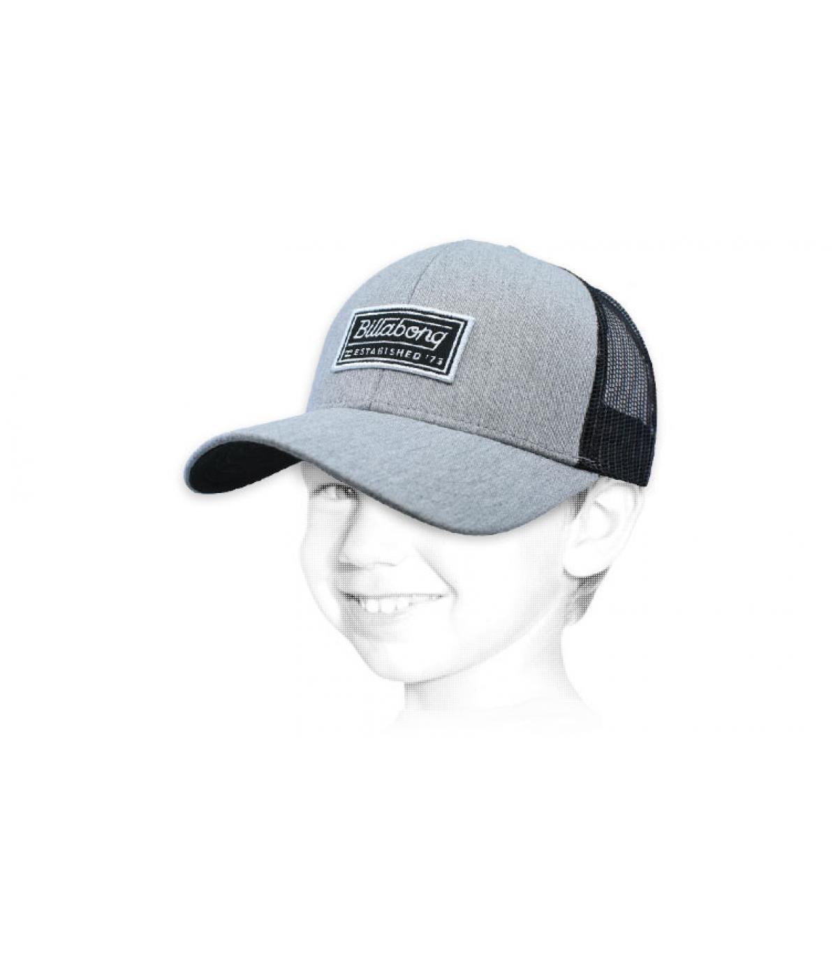trucker enfant Billabong gris