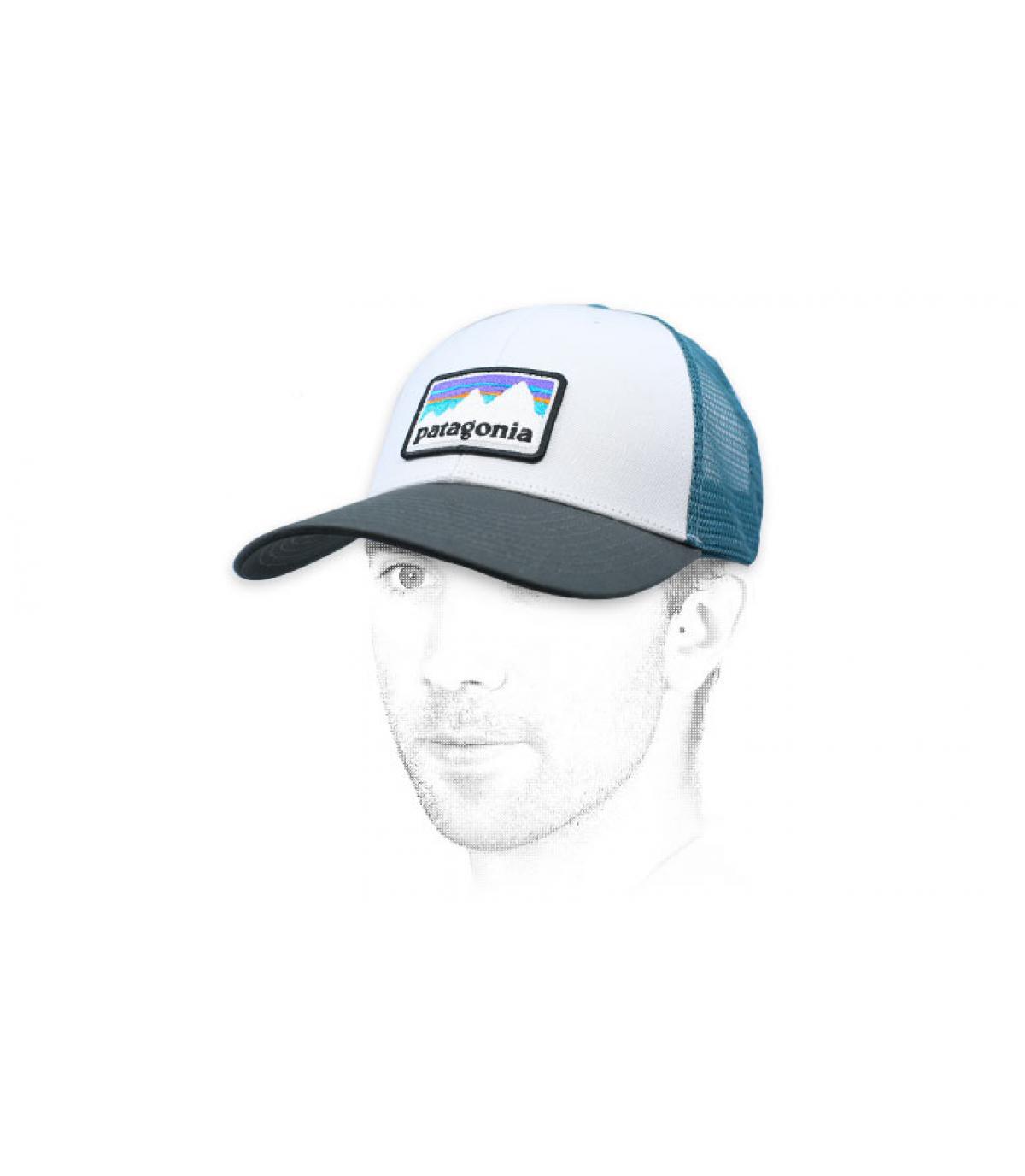trucker Patagonia blanc bleu
