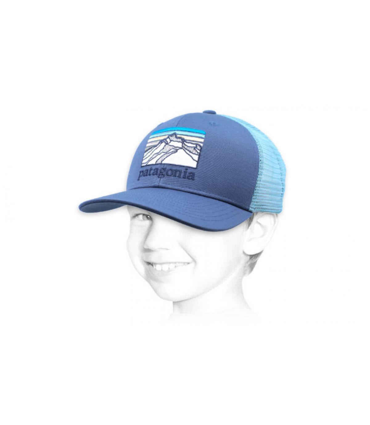 trucker enfant Patagonia bleu