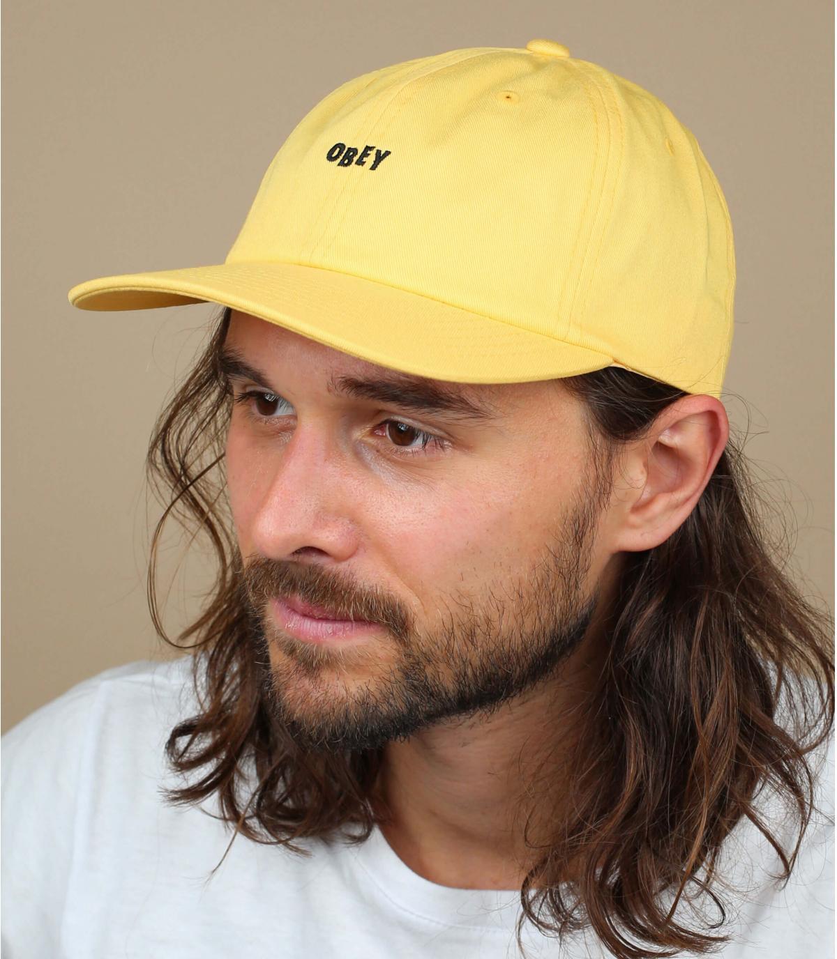 casquette Obey jaune