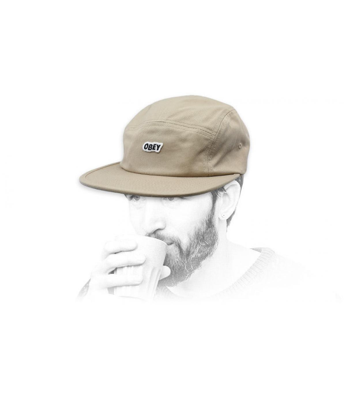 casquette Obey 5 panel beige