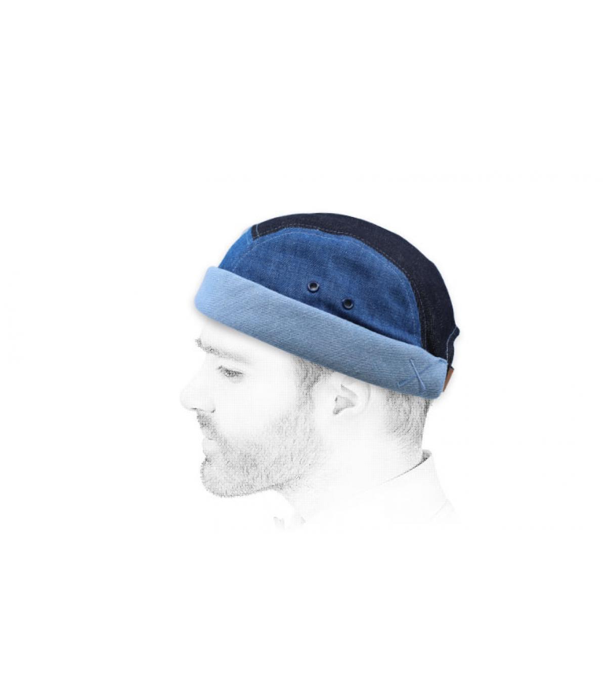 miki rayures bleu