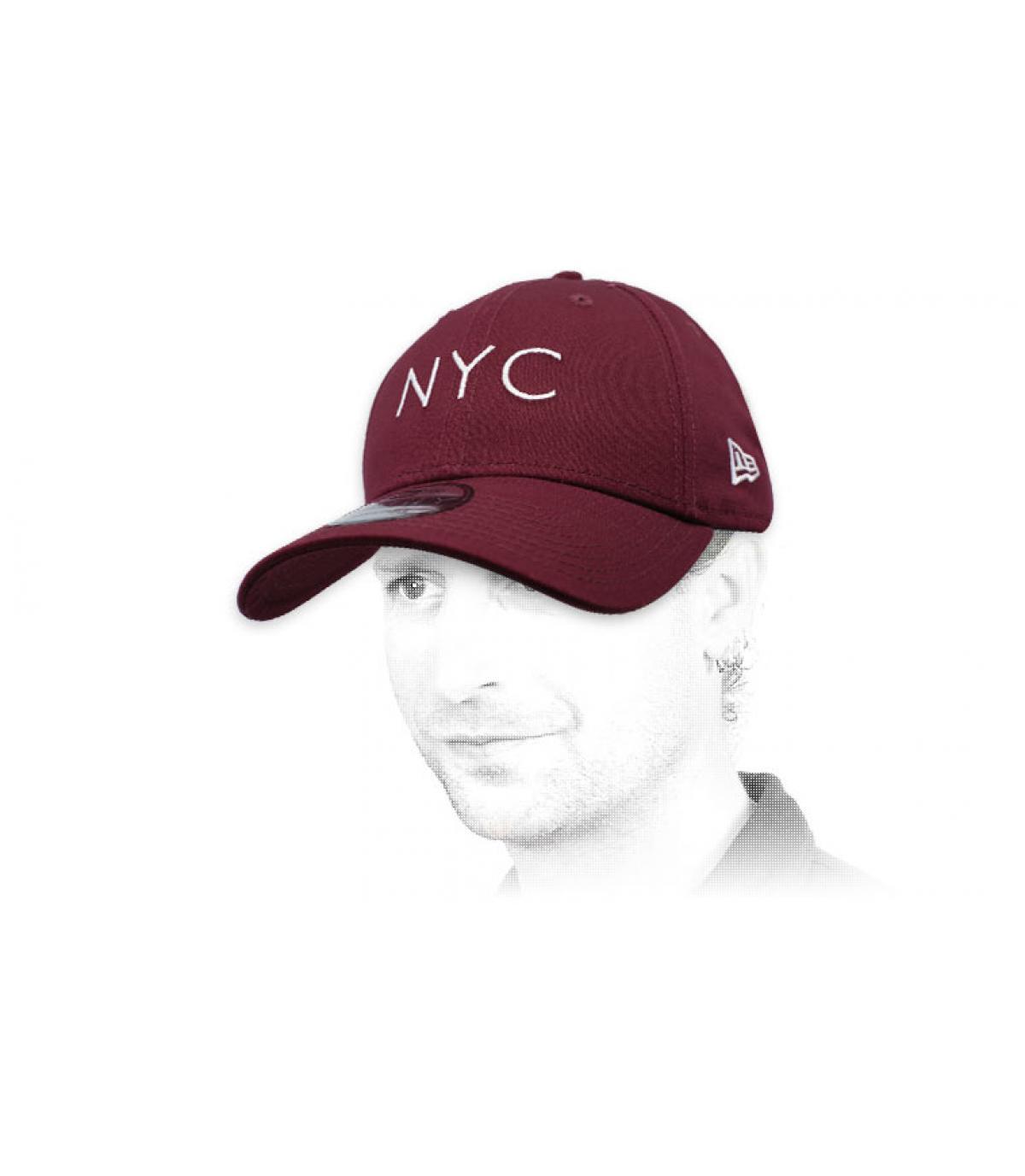 casquette NYC bordeaux