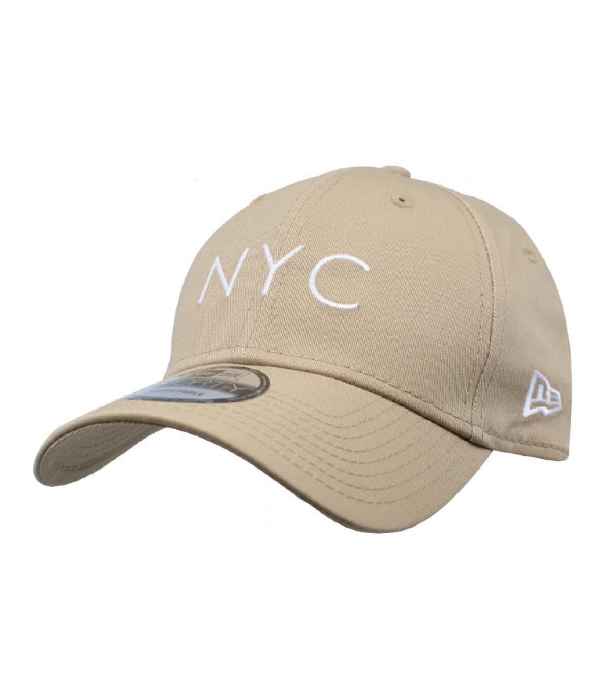 casquette NYC beige