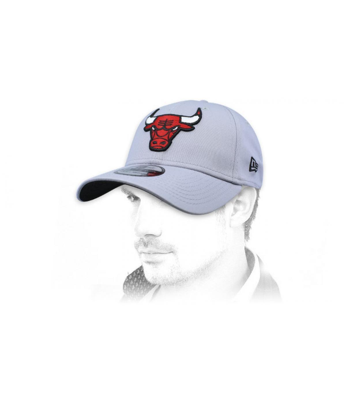 casquette Bulls gris