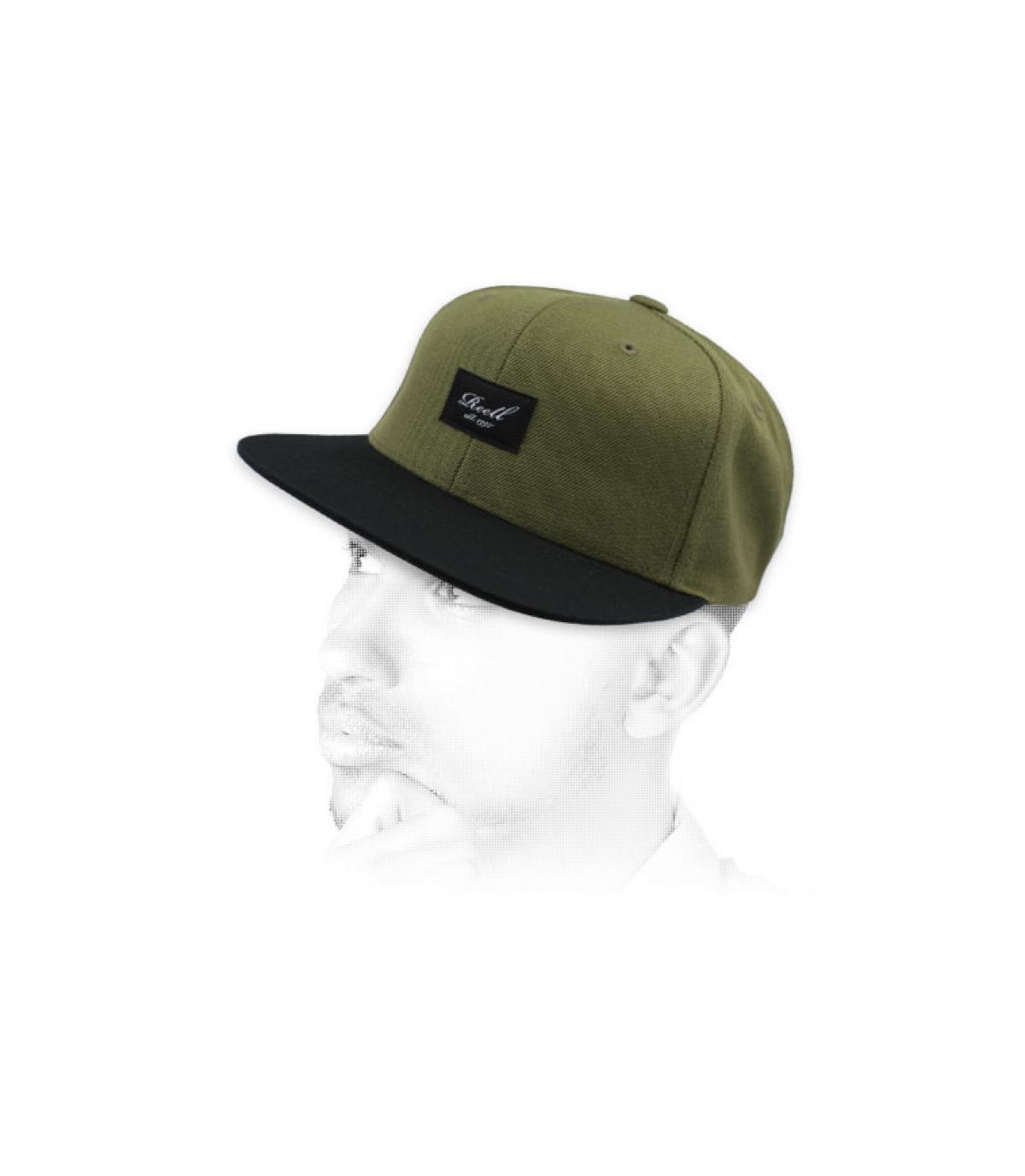 snapback vert noir Reell
