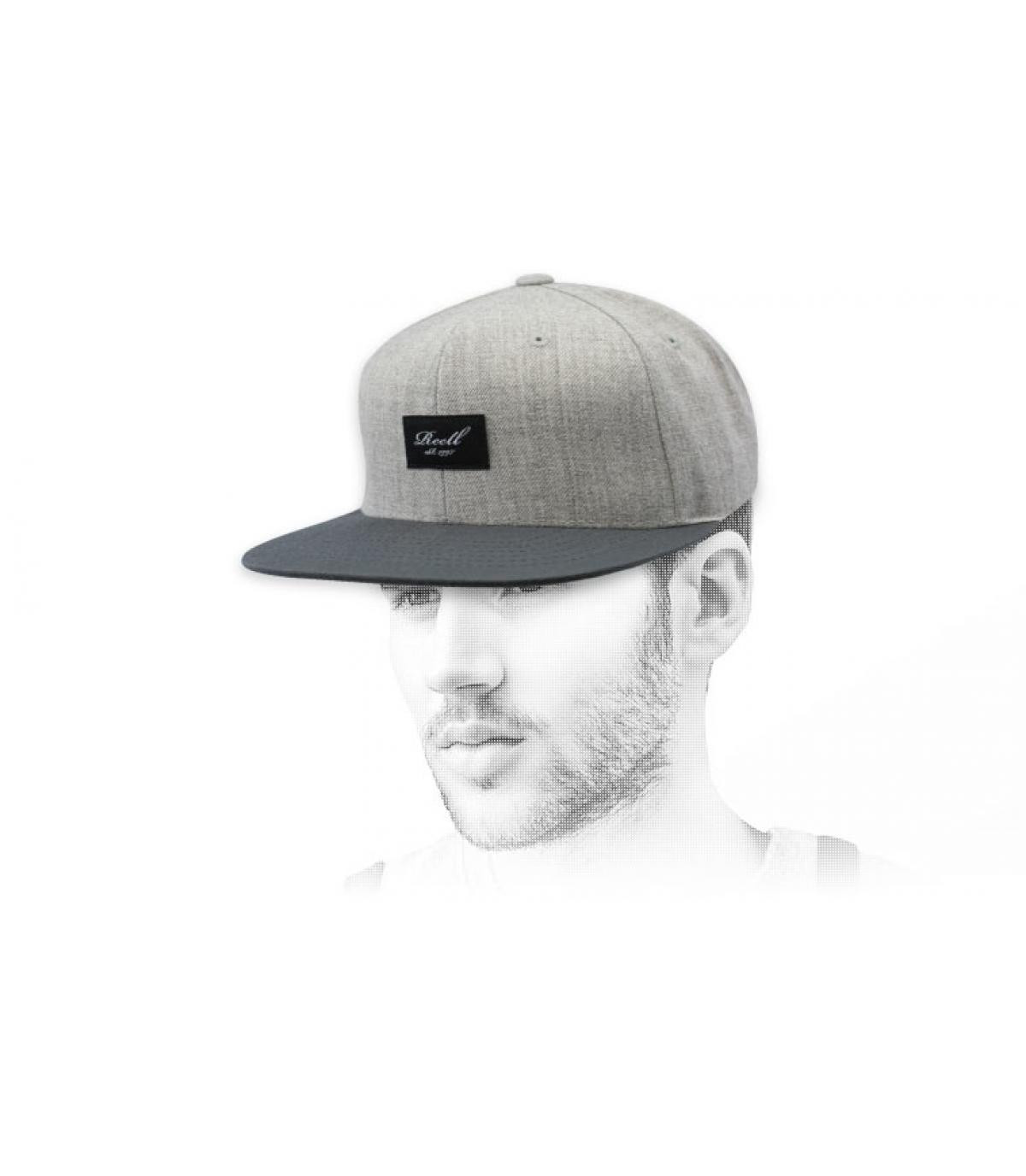 snapback gris chiné Reell