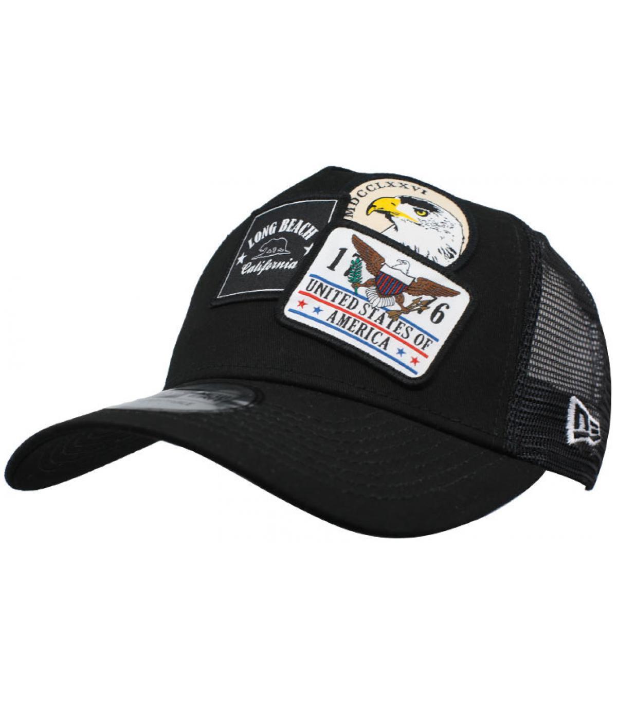 trucker patch USA noir
