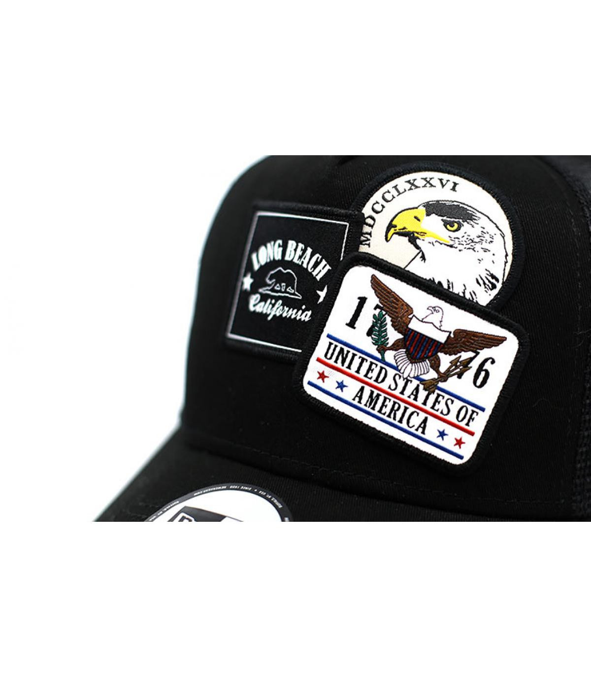 Détails Trucker Overlapping patch black - image 3