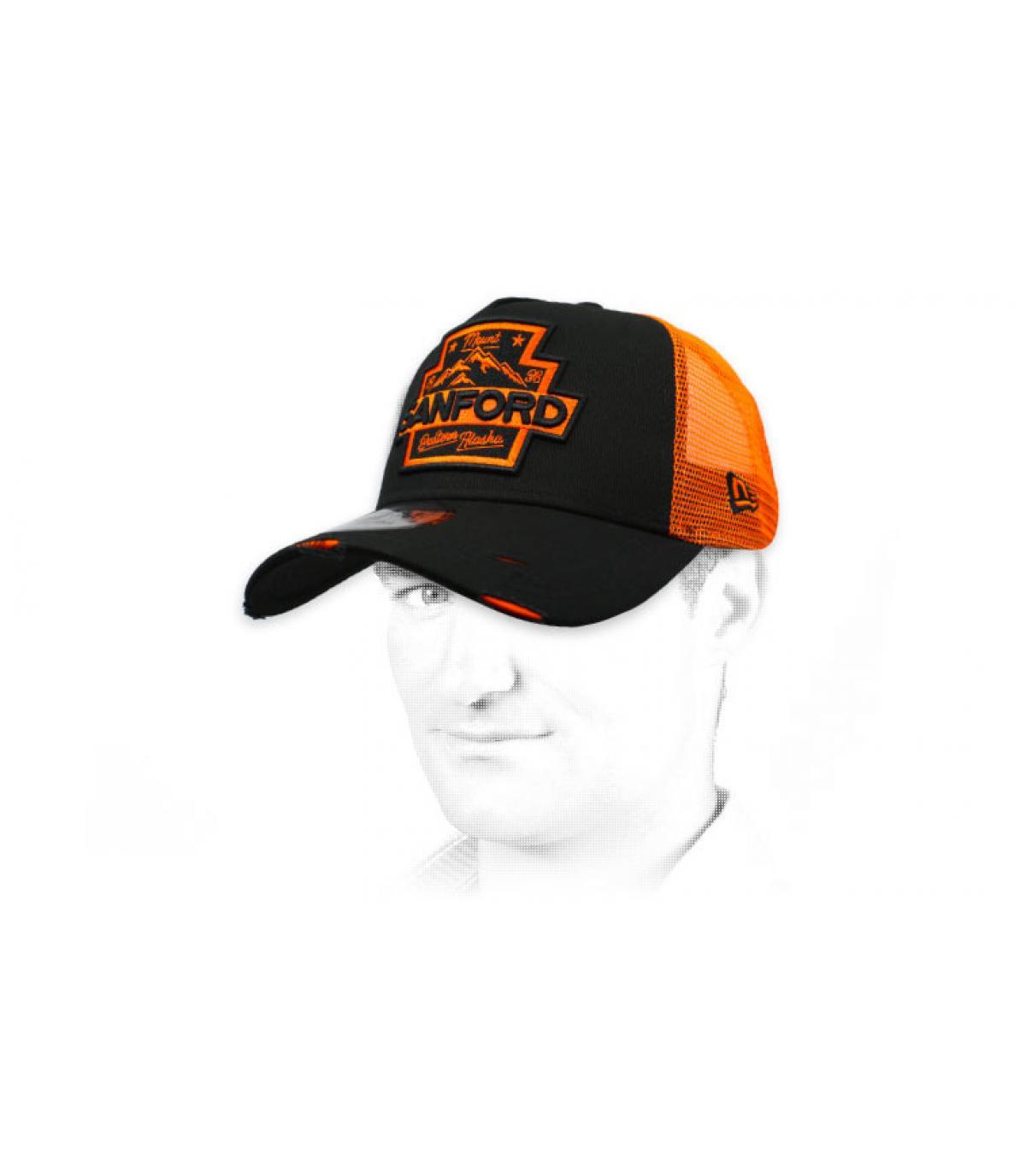 trucker Sanford noir orange