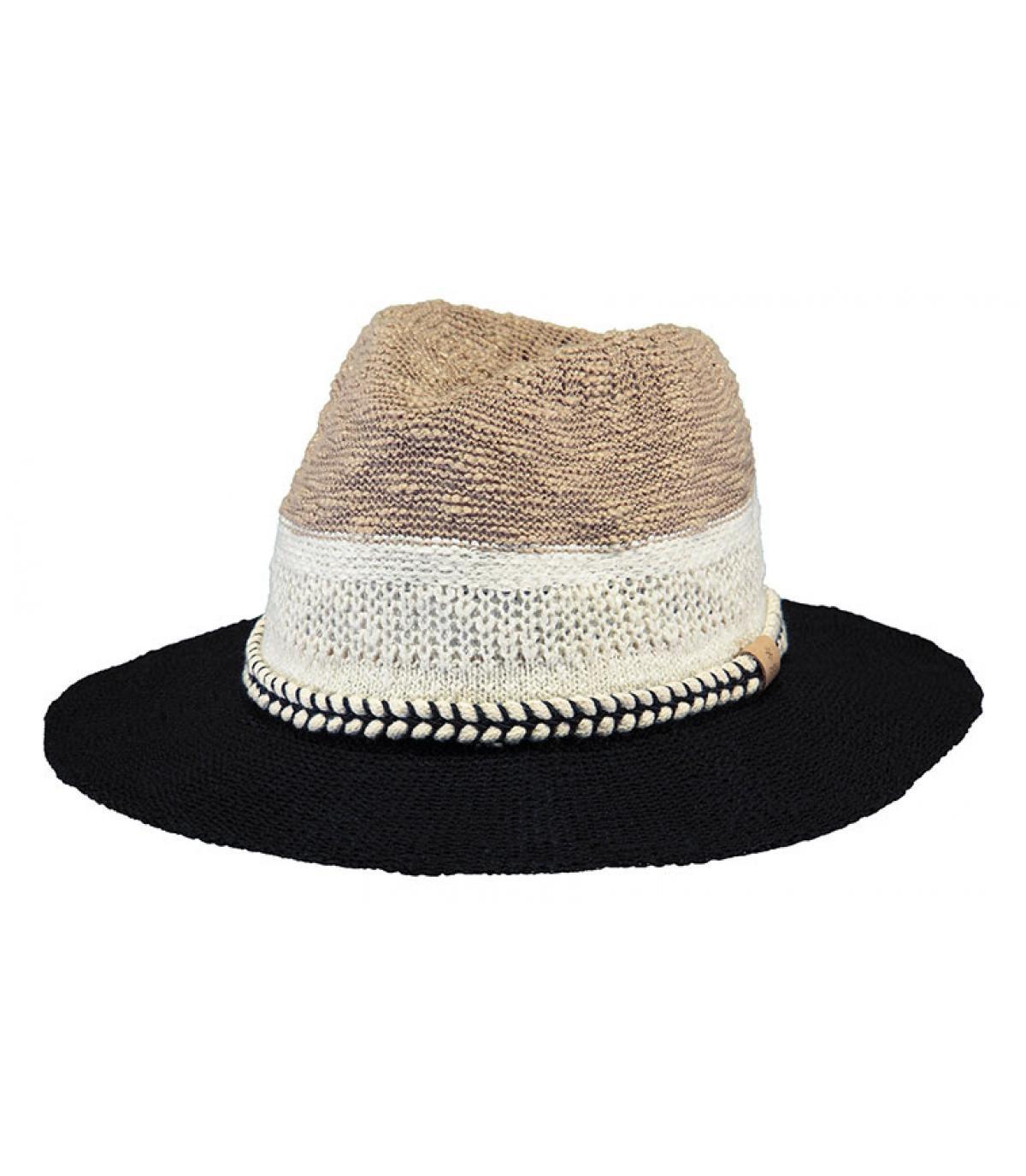 chapeau coton rayé