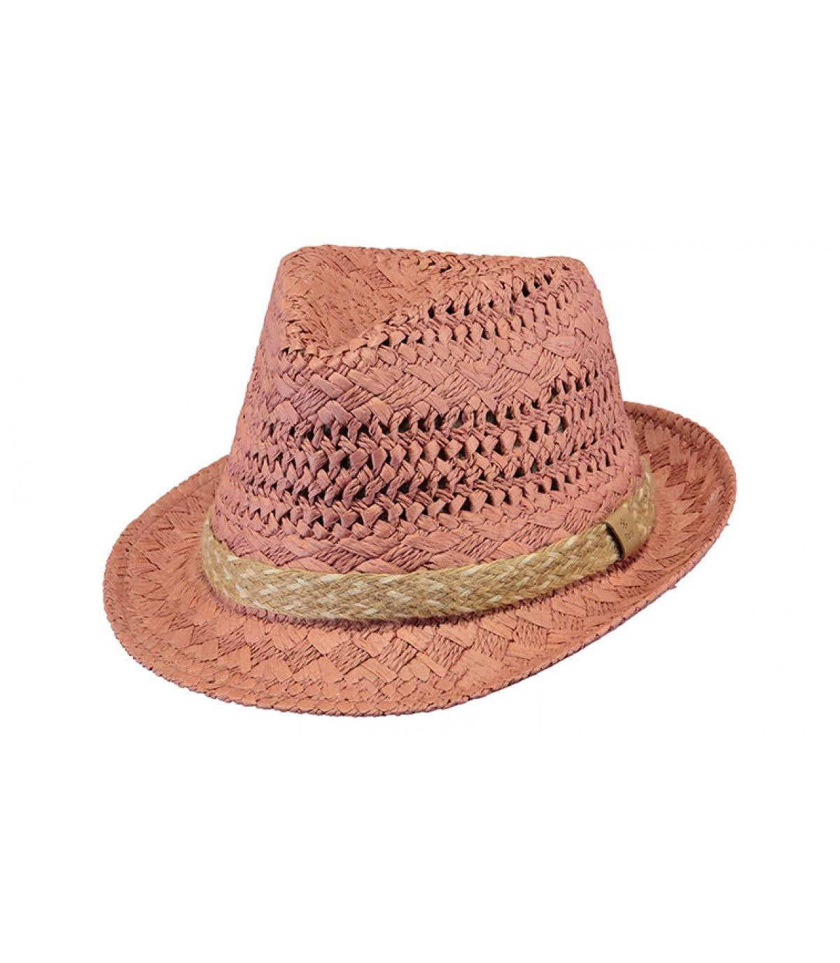 trilby paille rose