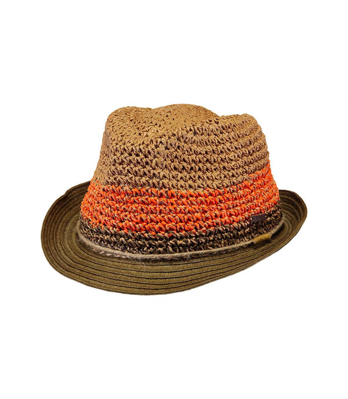 chapeau trilby paille rayure