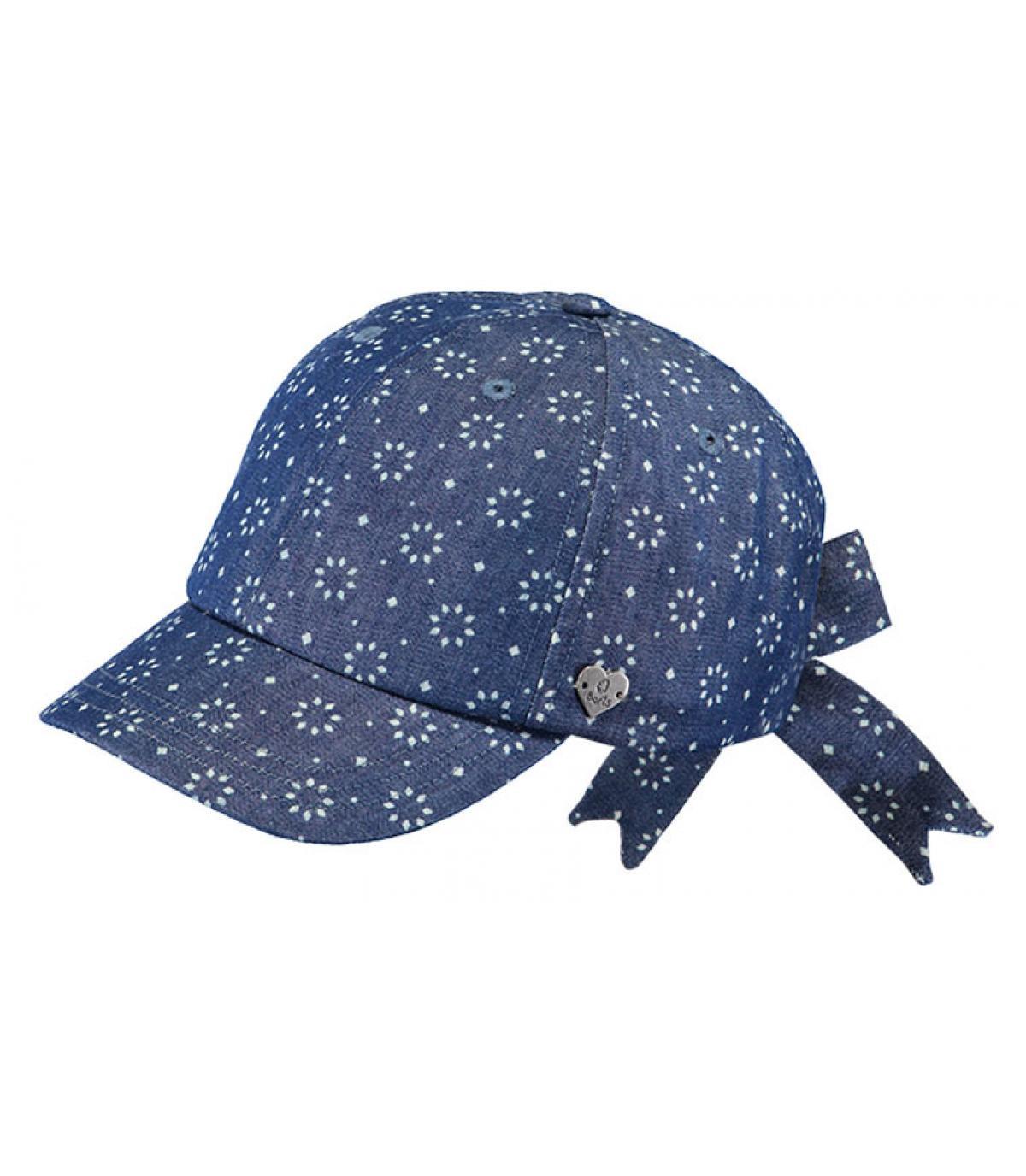 casquette enfant bleu nœud