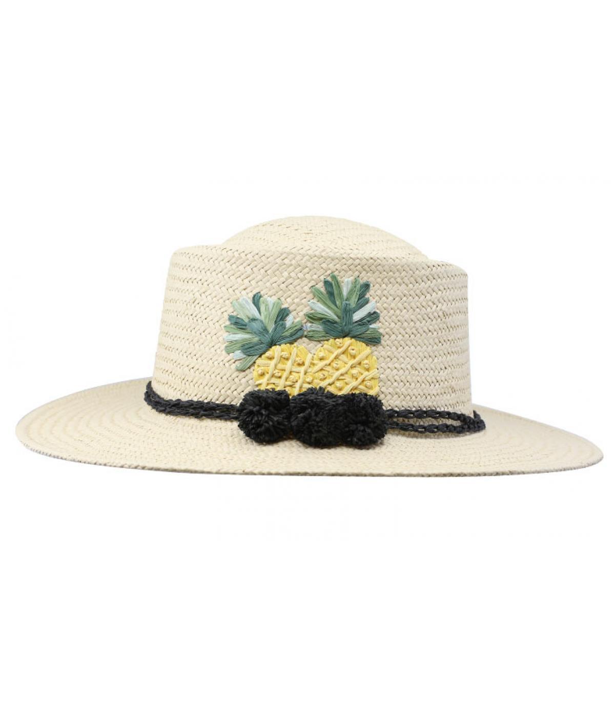 chapeau paille ananas