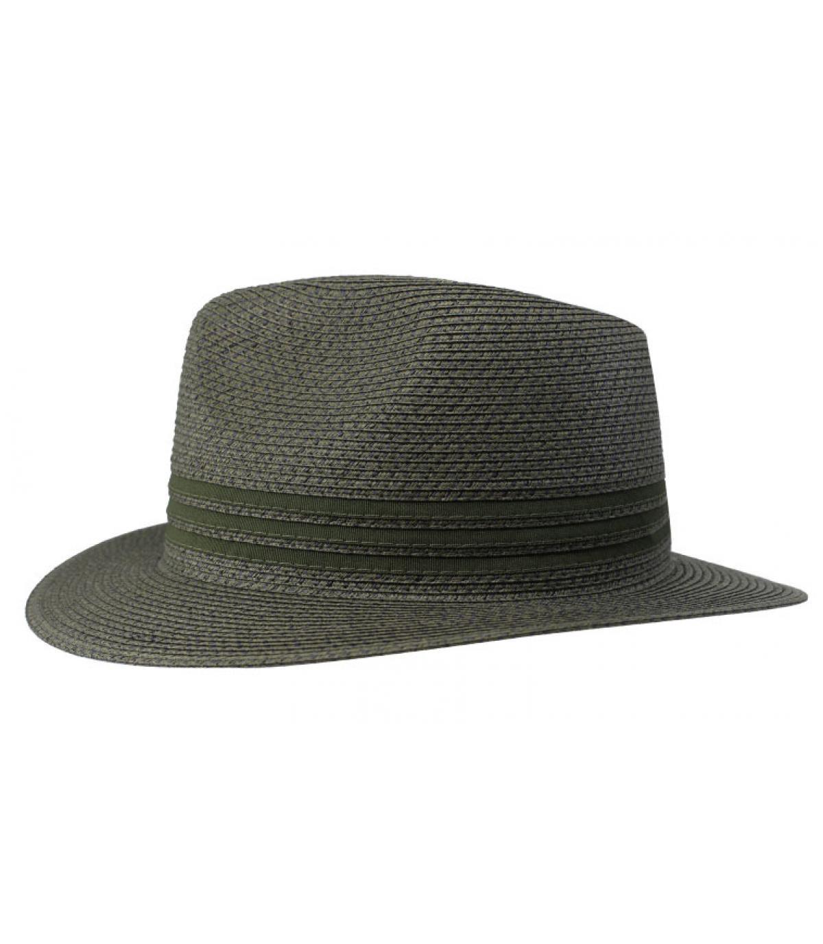 chapeau paille vert
