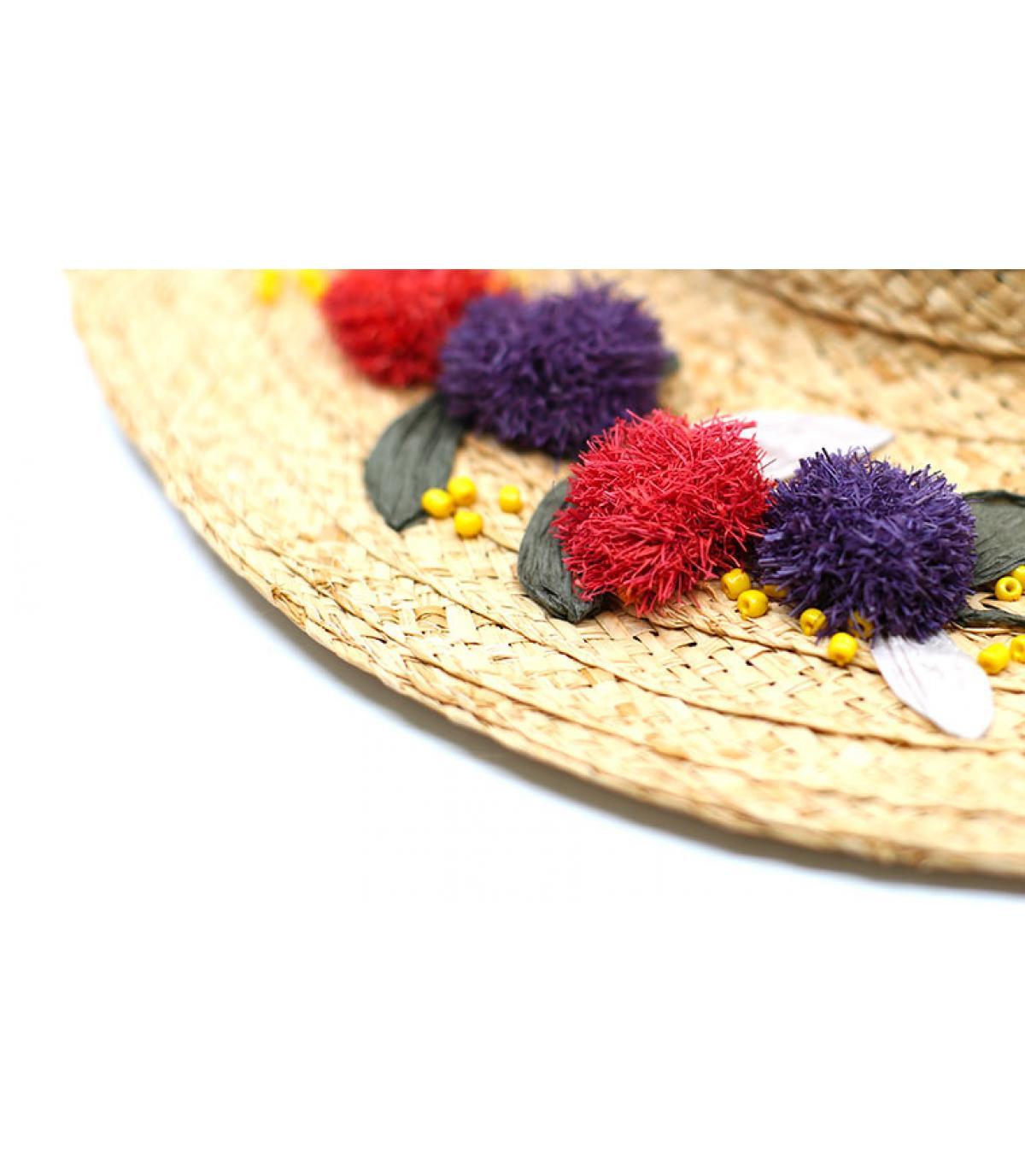 Détails Floppy Raphia Flower Embroidery - image 4