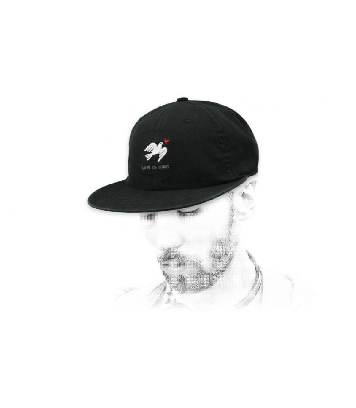 casquette colombe noir Wemoto
