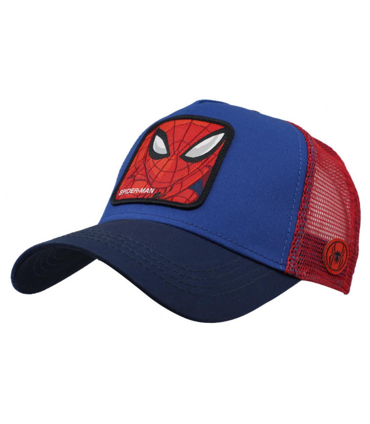 trucker Spiderman bleu rouge