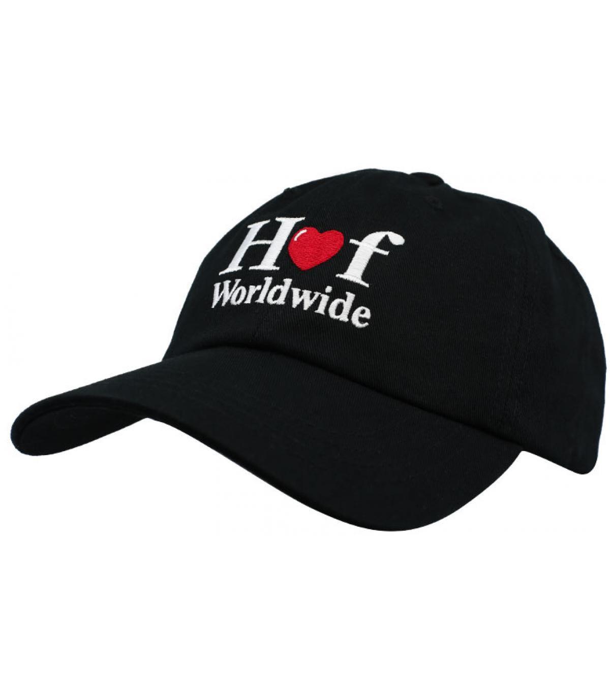 casquette Huf cœur noir