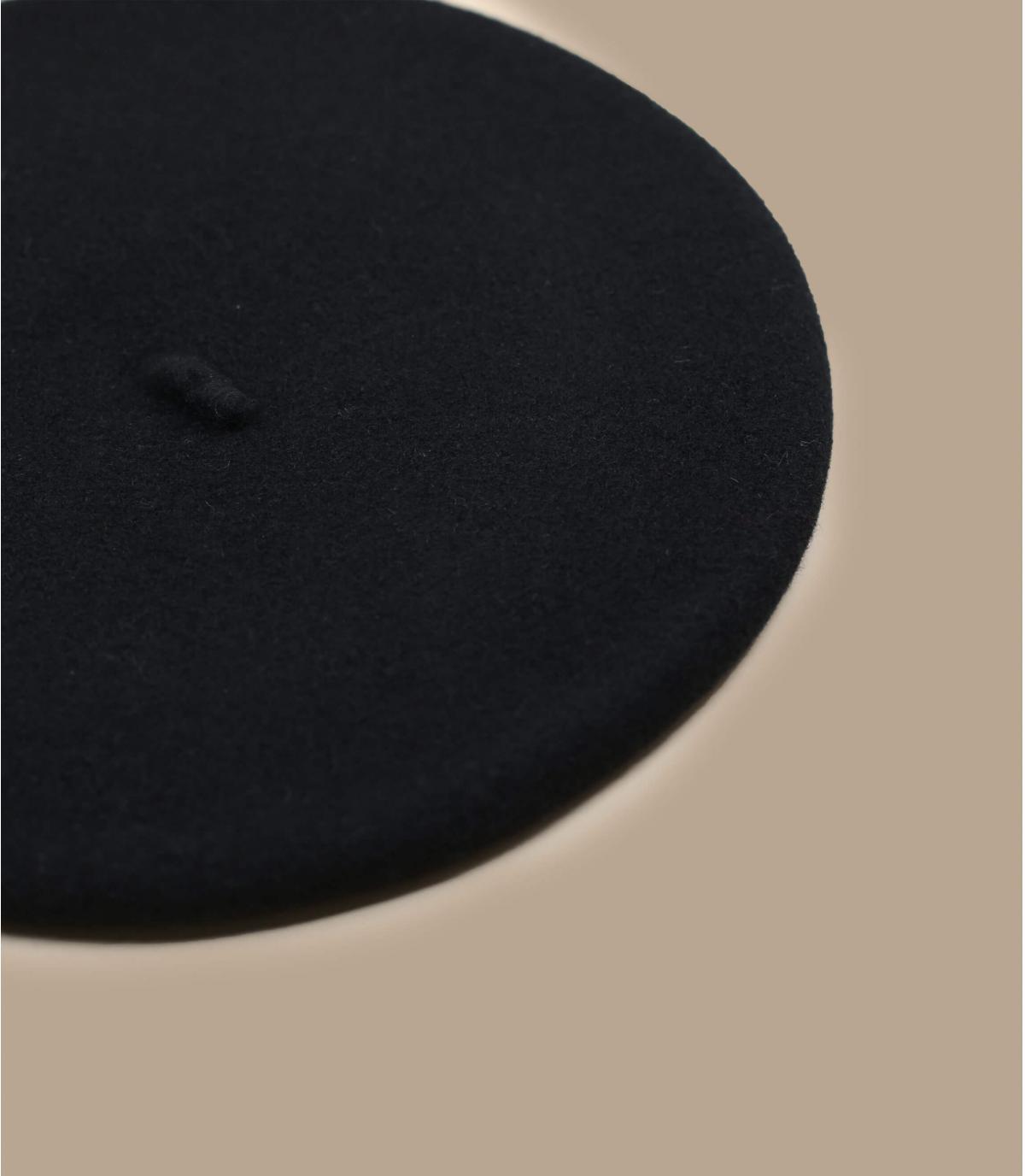 Détails Beret classique noir - image 2