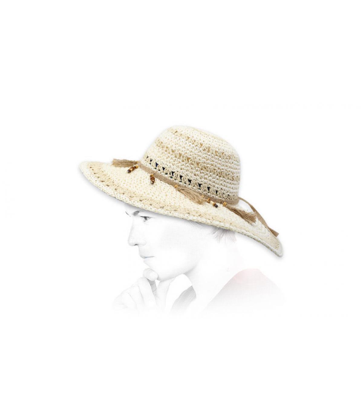 capeline crochet beige