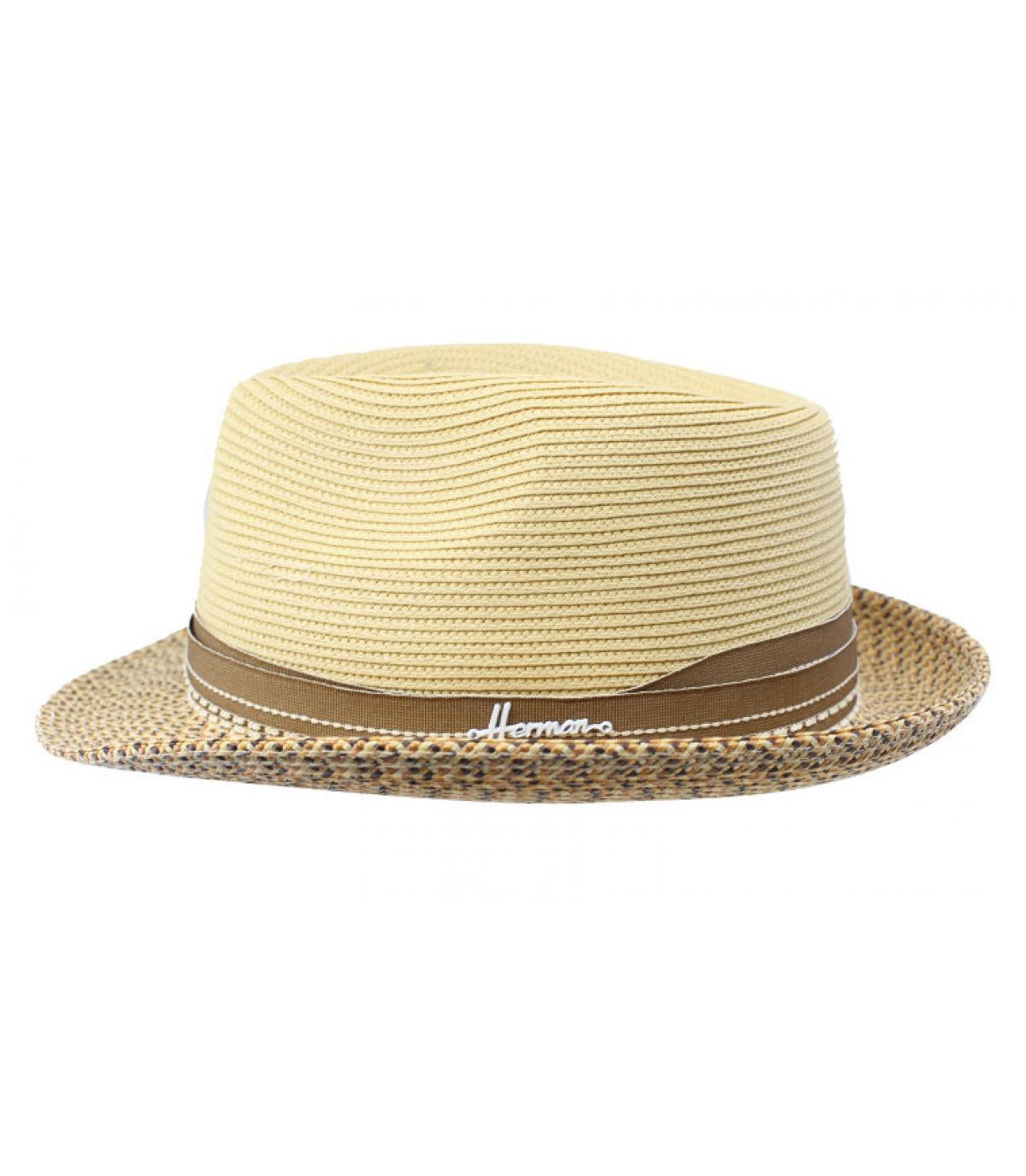 chapeau paille beige déperlant