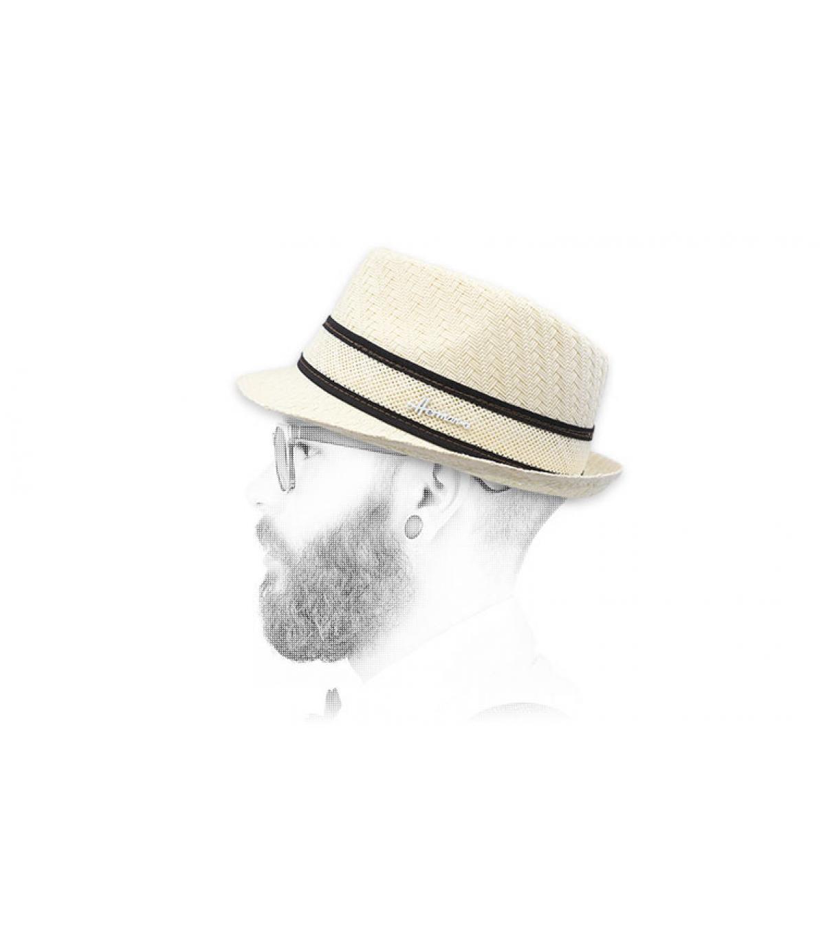 trilby blanc paille