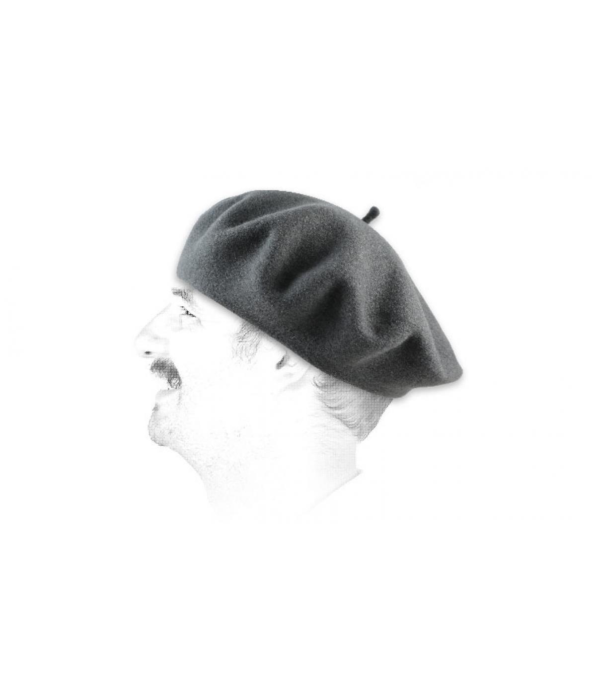 Détails Beret classique gris roche - image 2