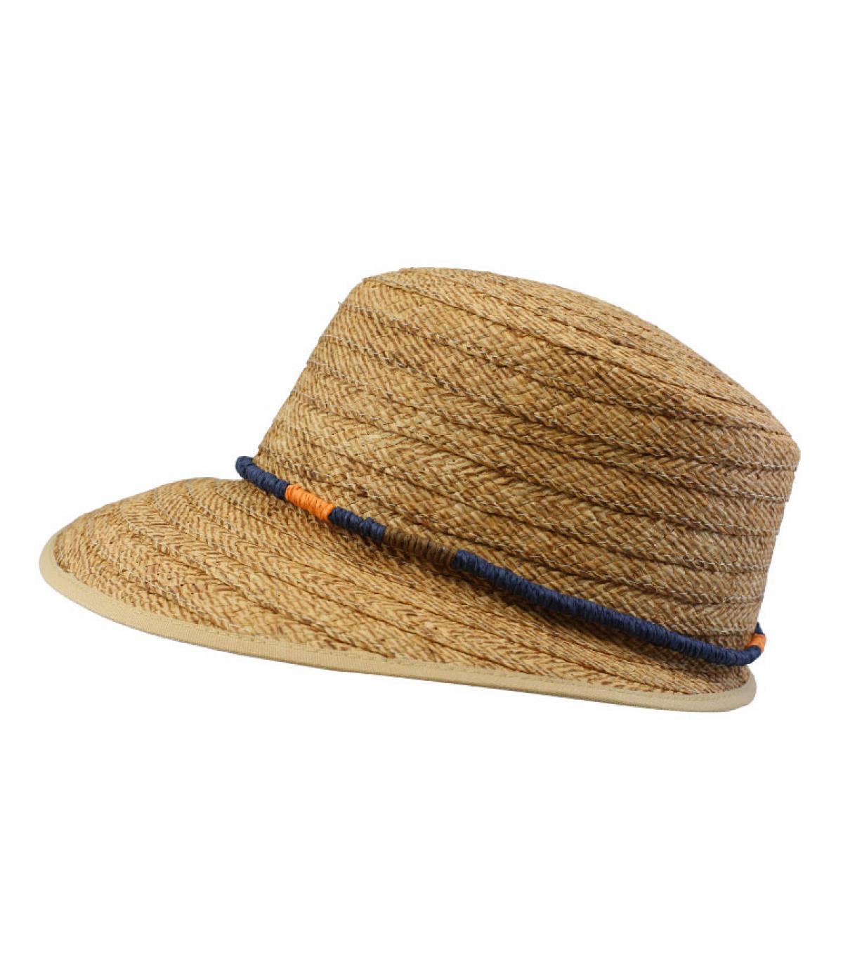chapeau visière paille